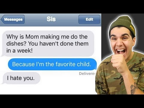 The Funniest BROTHER SISTER Texts!