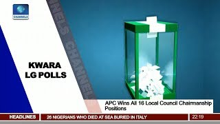 APC Wins All 16 Local Council Chairmanship Positions In Kwara LG Polls Pt 2 | News@10 |