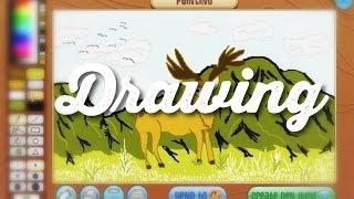 TRYING TO DRAW w/ CHIBBI (Animal Jam)