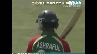 Ashraful  61 by only 27 balls  [Ashraful slogs shots ]  bangladesh hard hitter