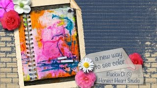 A new way to see color - an art journal page