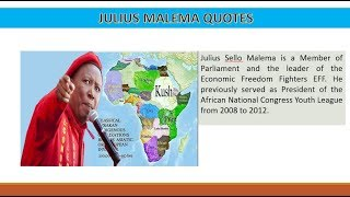 JULIUS Malema best Quotes for South Africans and Africa