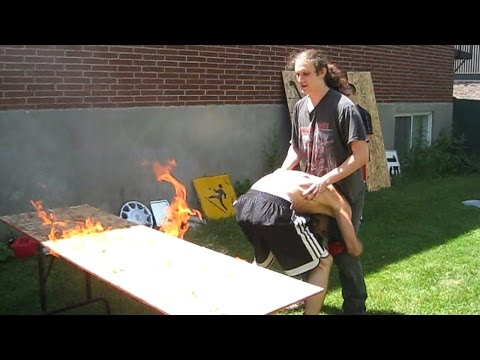 gts wrestling flaming tables wwe mattel figure matches animation