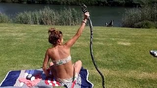 How Video of Sunbather Catching King Cobra Attacking Could Be Fake