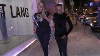 NeNe Leakes comments on the Kim Zolciak and Marlon Wayans feud outside Craigs in West Hollywood