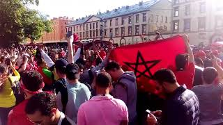 الجمهور المغربي محيح في روسيا !