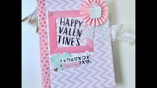 Mini álbum San Valentín. Heart Day crate paper