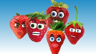 Strawberry Finger Family Song Nursery Rhymes for Kids | Learning Fruits