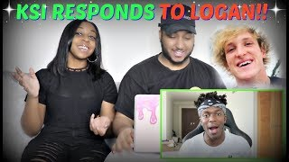 "KSI ""DEAR LOGAN PAUL"" REACTION!!!"