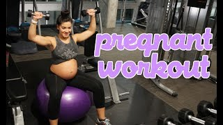 PREGNANT BELLY WORKOUT!