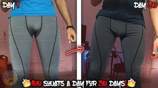 100 SQUATS A DAY FOR 30 DAYS CHALLENGE [MY BODY RESULTS]