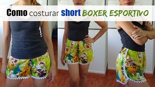 Confecção short boxer/esportivo | ModabyNill