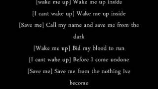 bring me to life evanesance ft linkin park (lyrics)