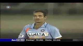 Irfan Pathan Vs Ricky Ponting LAUGHING CELEBRATION   YouTube