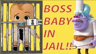 Boss Baby Goes To Bergens Jail with Trolls Movie Guy Diamond #11 - Smurfs, LOL Surprise Toys