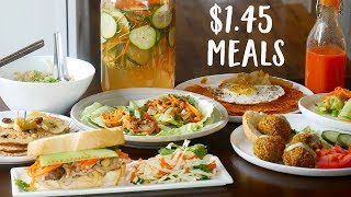 What You Can Cook For The Price of One Coffee A Day | $1.45 Meals