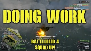 BattleField 4 Squad Up! Doing Work (Attack and Stealth Jet Montage)