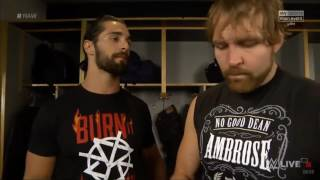 Seth Rollins And Dean Ambrose(The shield) Backstage