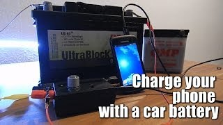 Charge your phone with a car battery (6V-24V) || Voltage regulator
