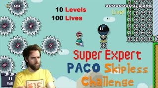 10 Difficult Levels / 100 Lives | Super Mario Maker (LIVE STREAM)