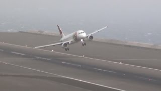 STORMY Winds 45Kts Extreme Landings Crazy Go Arounds    Madeira