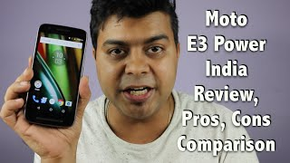 Hindi | Moto E3 Power India Unboxing, Review, Pros, Cons, Comparison | Gadgets To Use