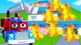 Carl the Super Truck is the Firetruck in Car City | Cars & Trucks construction cartoon for children