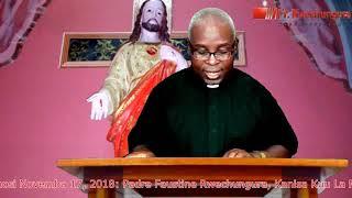 Tafakari Ya Jumamosi Novemba 17, 2018