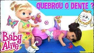 BABY ALIVE APRONTOU E CAIU!! QUEBROU O DENTINHO???
