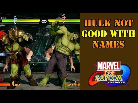 Marvel vs Capcom: Infinite - Hulk's funny tag dialogue