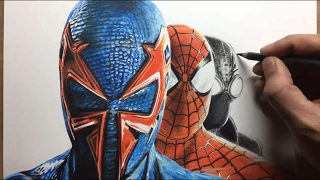Speed Drawing: Spiderman Shattered Dimensions - Timelapse | Artology