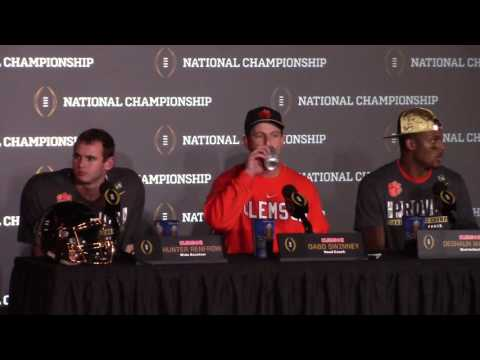 TigerNet Dabo Swinney postgame press conference after winning National Championship