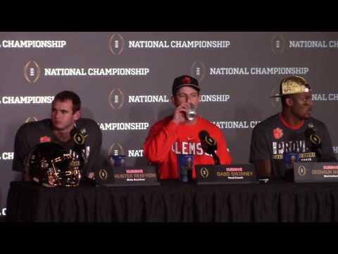 TigerNet Dabo Swinney postgame press conference after winning National Championship