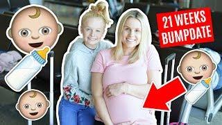21 WEEKS PREGNANT BUMP UPDATE iN L.A! 👶