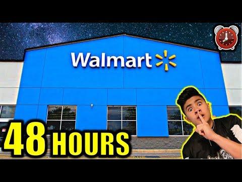 48 HOUR OVERNIGHT CHALLENGE IN WALMART PART 1
