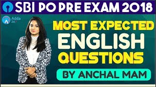 Most Expected English Questions For SBI PO PRE By Anchal Mam