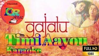 Timi aayou  lyrics with karaoke_HD