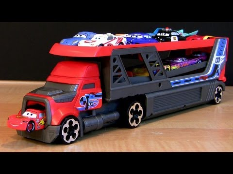 Hot Wheels Rapid Fire Launcher Blastin Rig Semi Truck Using Disney Pixar Cars 2 Toys Hauler