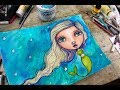 Mermaid Art Journal Page + Work Through Creative Block & Find Your Voice