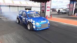 USC 2017 Allan Duthie Corsa turbo testing Santa Pod Raceway