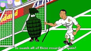 💪🏼RONALDO FIVE GOALS💪🏼Real Madrid vs Granada 9-1 Cartoon Charlie Adam Goal vs Chelsea