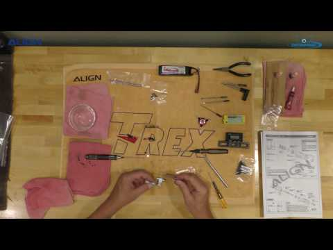TREX 470LM Dominator Build Rotor Head Video Part 1 of 5