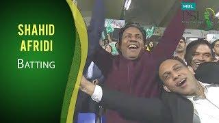 PSL 2017 Match 13: Peshawar Zalmi vs Karachi Kings - Shahid Afridi Batting