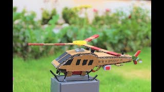 How To Make a Helicopter - cardboard helicopter