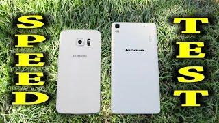 Lenovo K3 Note vs Samsung Galaxy S6 Edge - Speed Test (GearBest.com)