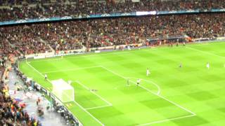 Torres Winning goal 24th April Chelsea v Barcelona - film with the  Barcalona fans