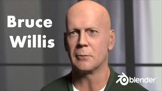 Bruce Willis timelapse, made with Blender
