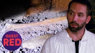 Nick Groff Finds Bones Buried Inside The Monroe House | Paranormal Lockdown