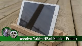 Wooden Tablet / iPad Holder Project