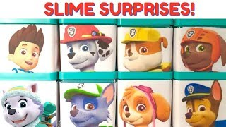 Learn Colors with Paw Patrol Slime Play Doh Surprise Boxes | Fizzy Fun Toys